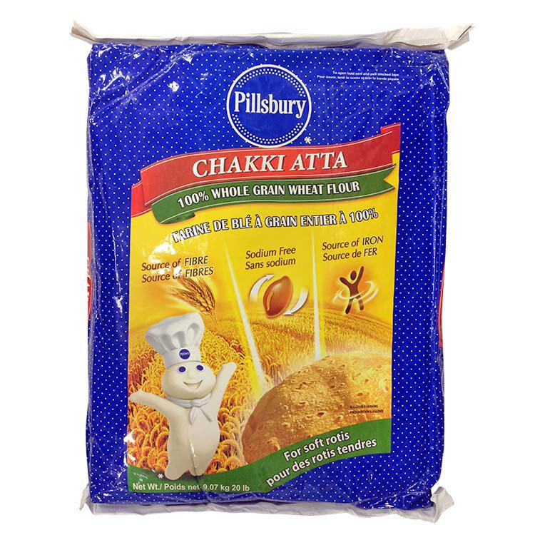 Pillsbury 'chakki Atta' Whole Grain Wheat Flour (20lb)