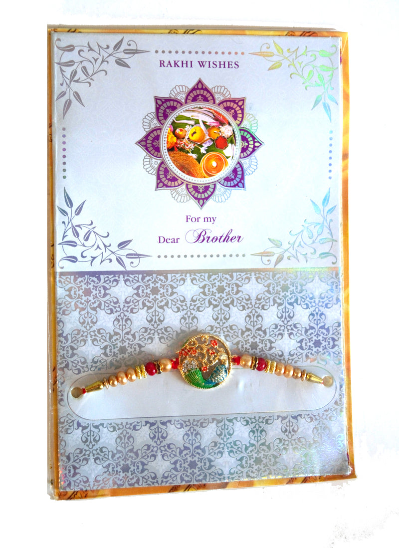 Rakhi/Rakhri with Greeting card