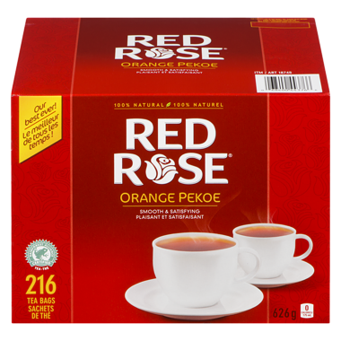 Red Rose Black Tea Orange Pekoe 216 bags