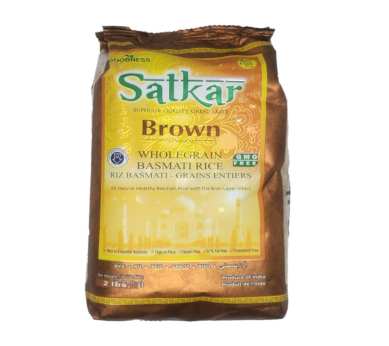 Satkar Brown Basmati Rice GMO Free 2lb