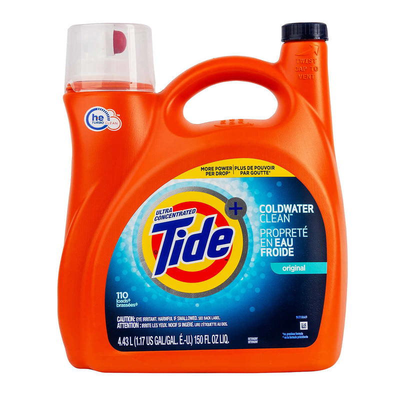 Tide Coldwater Clean Liquid Laundry Detergent, 110 wash loads