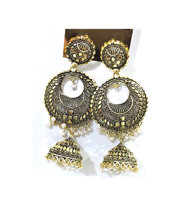 Traditional & Classy Party wear Dangler with Pearl Jhumki