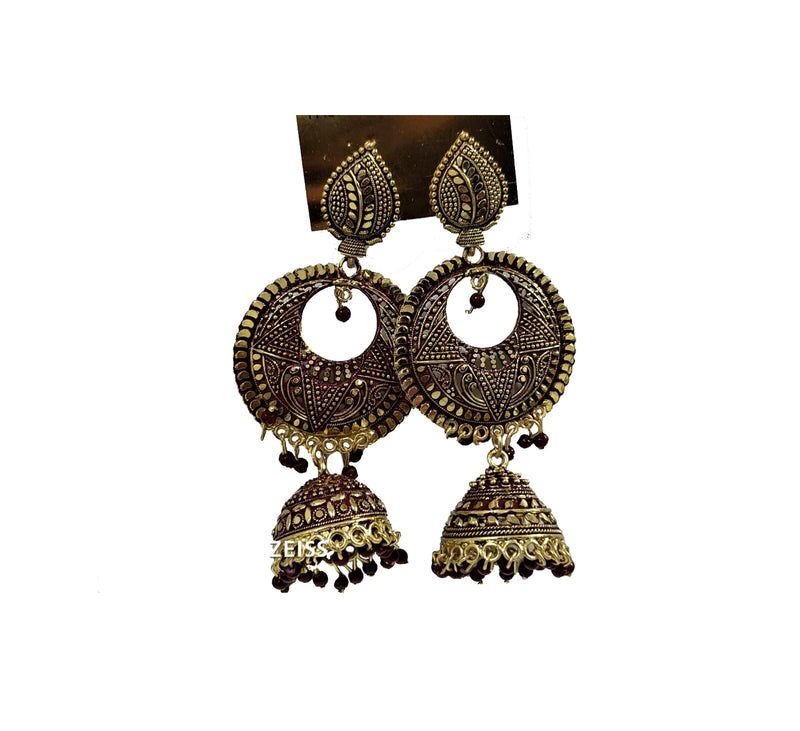 Traditional & Classy Party wear Wired Dangler with Pearl Jhumki