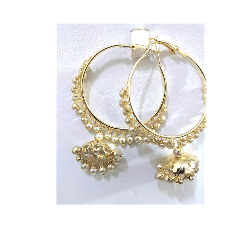 Traditional & Stylish Dangler with Pearls & Jhumki