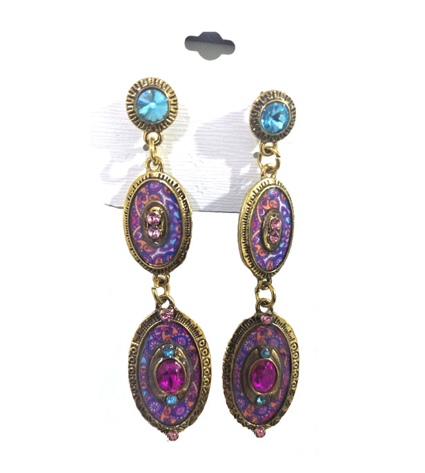 Ultimate Classy Danglers with Multicolor Charms
