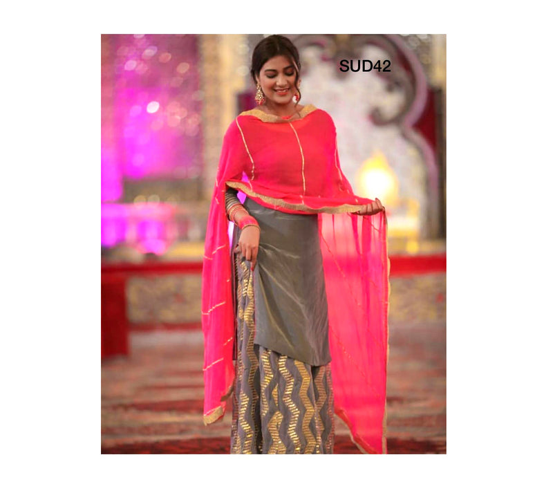 Classy & Trendy Uppada Silk Dress Material is a must part of your Stylish Wardrobe