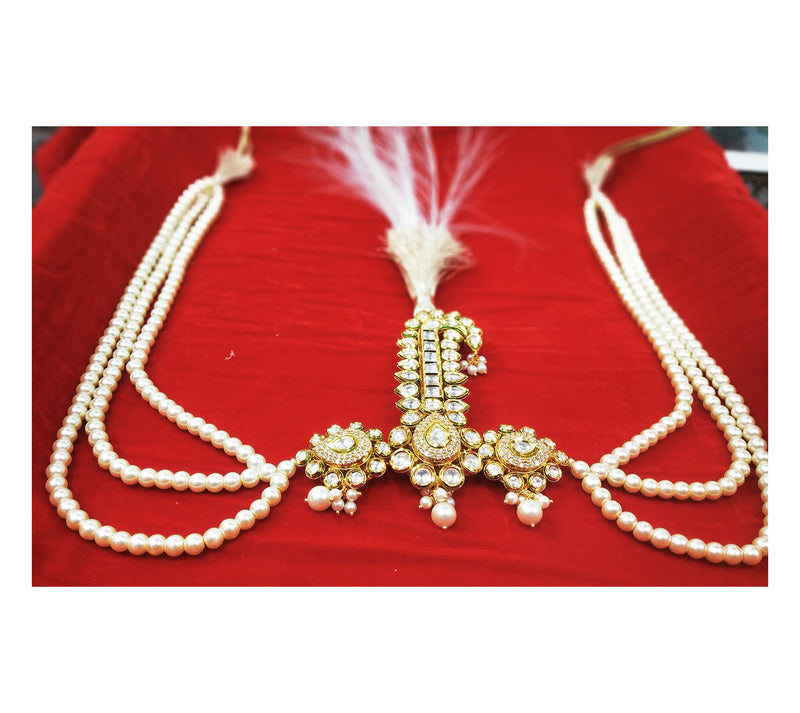 Kundan Mix Groom Kalgi