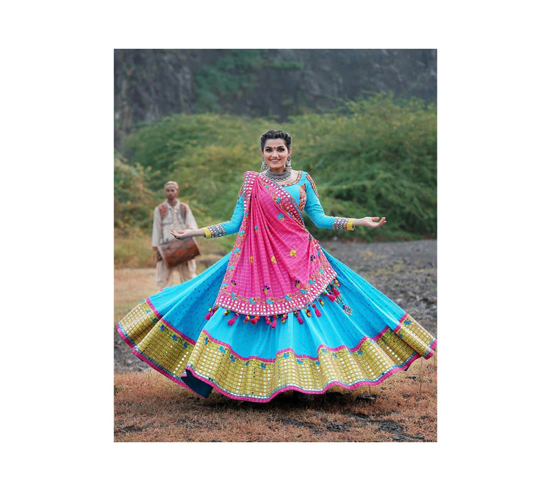 Printed work Lehenga Choli in heavy Butter Silk