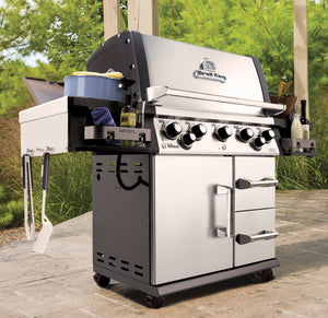 Barbecue a GAS BROIL KING IMPERIAL 490 PRO con fornello laterale e girarrosto