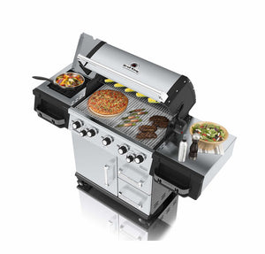Barbecue a GAS BROIL KING IMPERIAL 590 PRO con fornello laterale e girarrosto