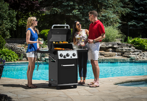 Barbecue a GAS BROIL KING CROWN 340 con fornello laterale