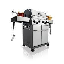 Barbecue a GAS BROIL KING BARON S490 INOX con fornello laterale e girarrosto