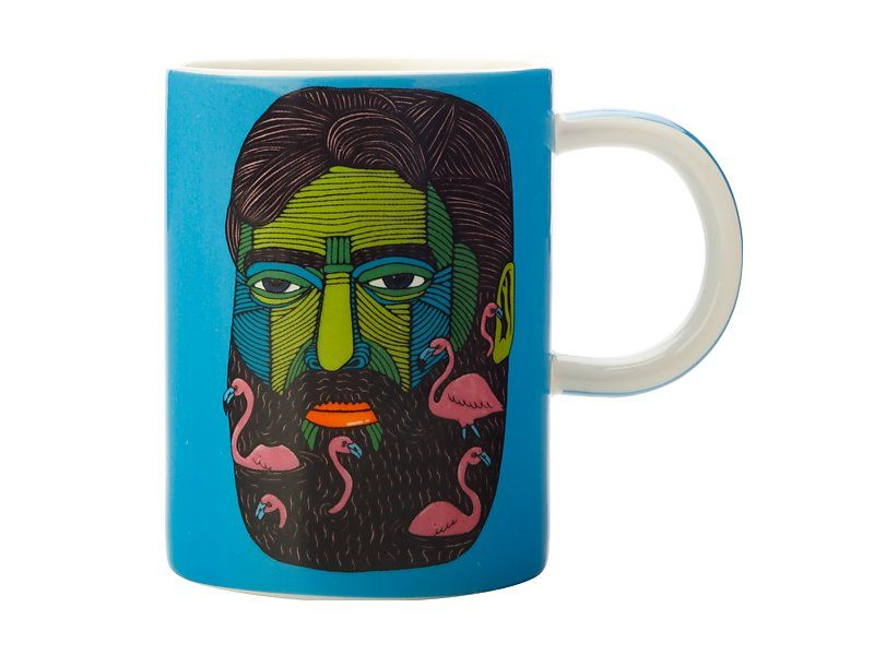 Tazza MULGA THE ARTIST MUG 450ml -FLAMINGO MAN