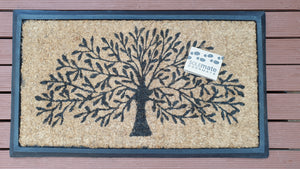 Rubber and Coir Tree of Life Door Mat