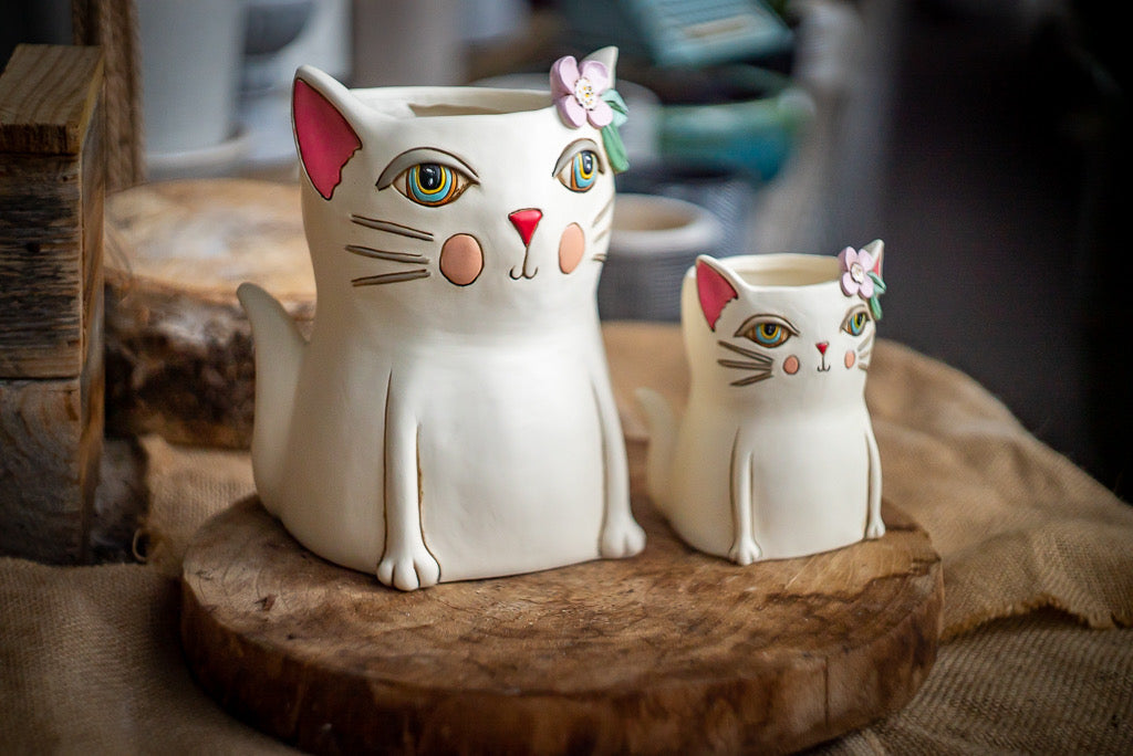 1 Designer pot-Cat