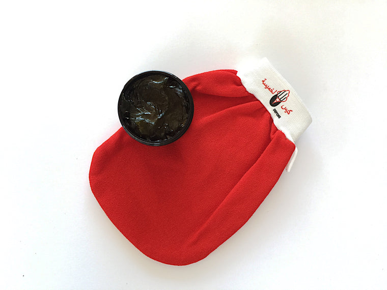 Black Olive Soap & Exfoliating Mitt Set