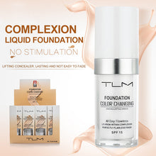 Load image into Gallery viewer, TLM 30ml Temperature Change Complexion Liquid Foundation Cream Concealer Hydrating Makeup Coverage Base Cosmetics Primer TSLM1