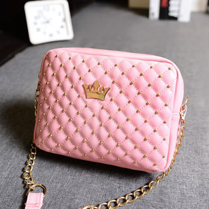 Miyahouse Mini Travel Women Messenger Bag Fashion Shouler Bag With Crown Hot Sale Small Rivet Design Shoulder Daily Bag