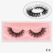 Load image into Gallery viewer, Mink Eyelashes Thick Natural False Eyelashes 100% Cruelty free Lashes Handmade Reusable  3D Mink Lashes Extension Eyelash Makeu
