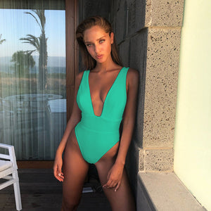 2020 Sexy One Piece Swimsuit Women Swimwear Bodysuit Push Up Monokini Halter Cross Bathing Suits Swim Suit Wear Female Beachwear