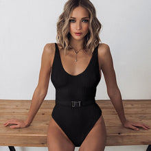 Load image into Gallery viewer, 2020 Sexy One Piece Swimsuit Women Swimwear Bodysuit Push Up Monokini Halter Cross Bathing Suits Swim Suit Wear Female Beachwear