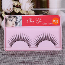 Load image into Gallery viewer, 1pair 3D Mink Fiber False Eyelashes Fake Lashes Natural Long Thick Curling Mink Eyelashes Wispy Makeup Beauty Extension Tools