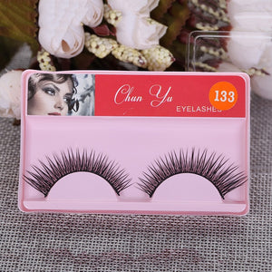 1pair 3D Mink Fiber False Eyelashes Fake Lashes Natural Long Thick Curling Mink Eyelashes Wispy Makeup Beauty Extension Tools