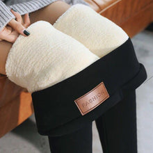 Load image into Gallery viewer, Black High Waist Thermal Pants Winter Skinny Thick Velvet  Fleece Warm Leggings Women Trousers Stretch Pants Leggings Polar