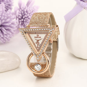 Fashion Casual Bracelet Watch Women High-end Blue Glass Life Distinguished Quartz Watch Clock Female #1219