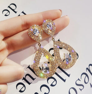 New jewelry drop-shaped earrings female personality wild exaggerated earrings