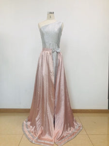 Linglewei 2019 Women Summer Dress Sexy Sequined Drees one shoulder Vintage Elegant  Dress
