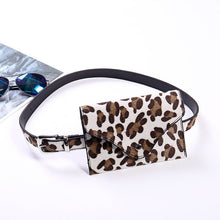 Load image into Gallery viewer, Women Leopard Waist Fanny Pack Holiday Money Belt Wallet Travel Bag Phone Pouch Hip Bum Bag Small Purse Mini Wallet 18x12cm