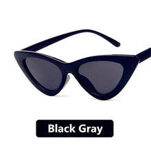 Load image into Gallery viewer, Cat Eye Sunglasses Women 2019 Vintage Sunglases UV400 Black Shades Retro Cateye lunette de soleil femme oculos MN5040