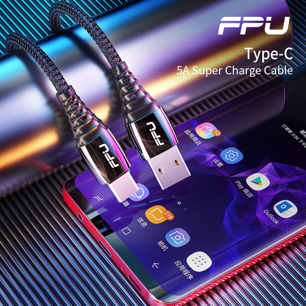 FPU 5A USB Type C Super Fast Charging Cord