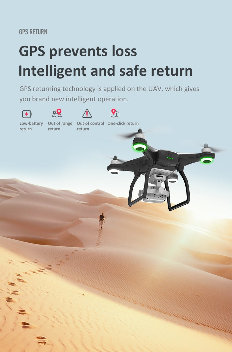 LAUMOX X35 SAE Drone GPS 5G WiFi 4K HD Camera Profissional RC Quadcopter