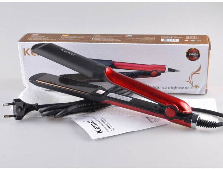 Kemei Hair Curler/ Straightener Ceramic Flat Irons for Women KM-531