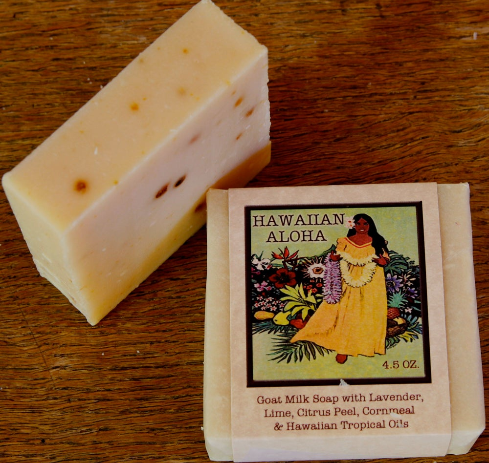 Hawaiian Aloha Lavender Citrus Goat Milk Soap