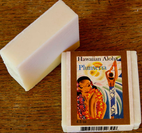 Hawaiian Aloha Plumeria Goat Milk Soap