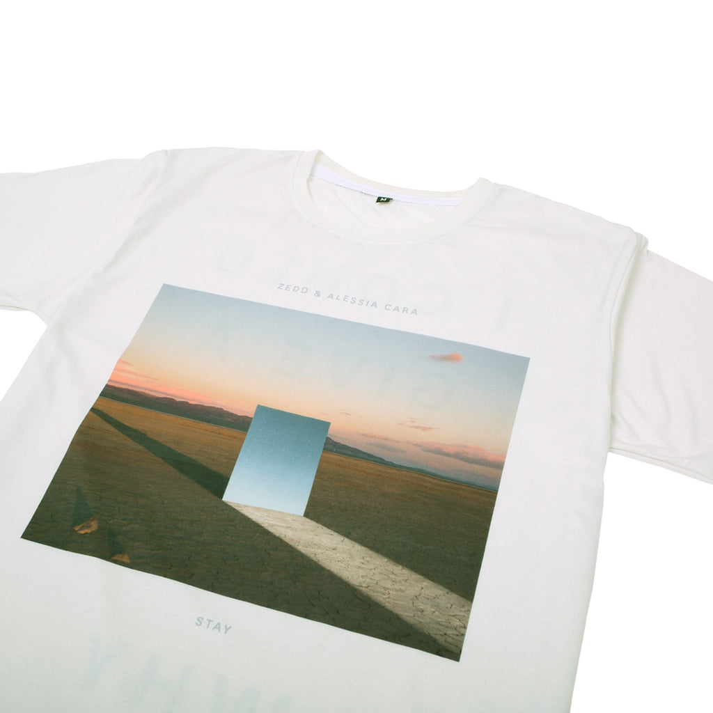 'Stay' Cut & Sew Long Cut T-Shirt