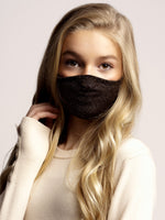 Face mask Kids Glitter Black/Gold