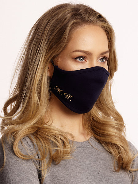 Face mask Cotton Dark Blue