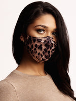 Face mask Leopard Brown