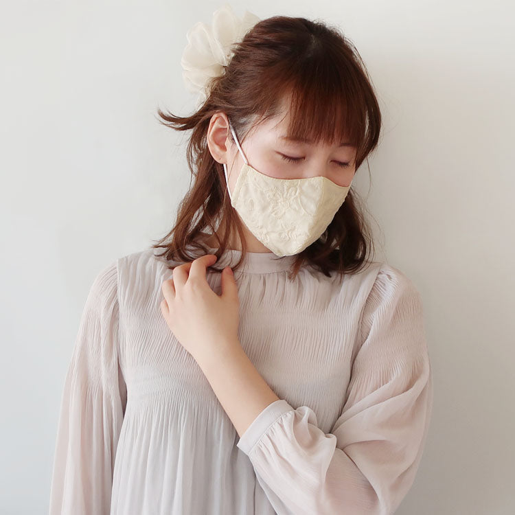 CO-015《Finished Product / three-dimensional》Cloth Face Mask / Cotton Lace / Garland