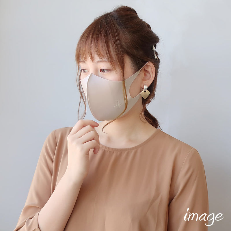 DE-008《Finished product》Rhinestone Decor Face Mask / Heart