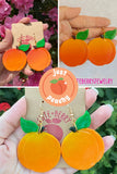Cute Resin Peach Dangle Earrings 🍑🍑🍑 - Cute Berry Jewelry