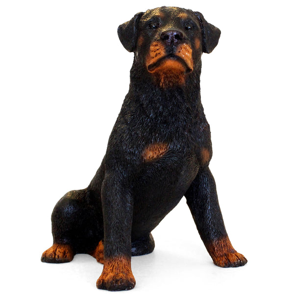 "Italian Rottweiler Figurine ""Night Awakening"" 4.75 in. Adult Sitting 01C - Rottweiler POV"