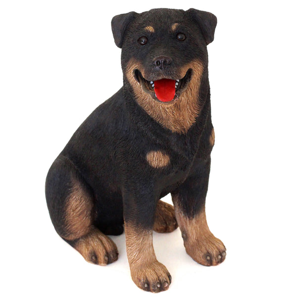 "Rottweiler Figurine ""Bloody Meal"" 6.25 in. Adult Sitting 01E - Rottweiler POV"