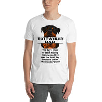 Rottweiler Dad Kiss Money Good-Bye Short-Sleeve T-Shirt - Rottweiler POV