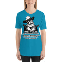Be Strong and Courageous Cowboy Rottweiler T-shirt Short-sleeve Unisex - Rottweiler POV