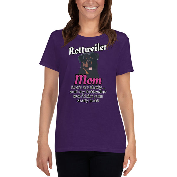 Rottweiler Mom Dont Act Shady Women's short sleeve t-shirt - Rottweiler POV